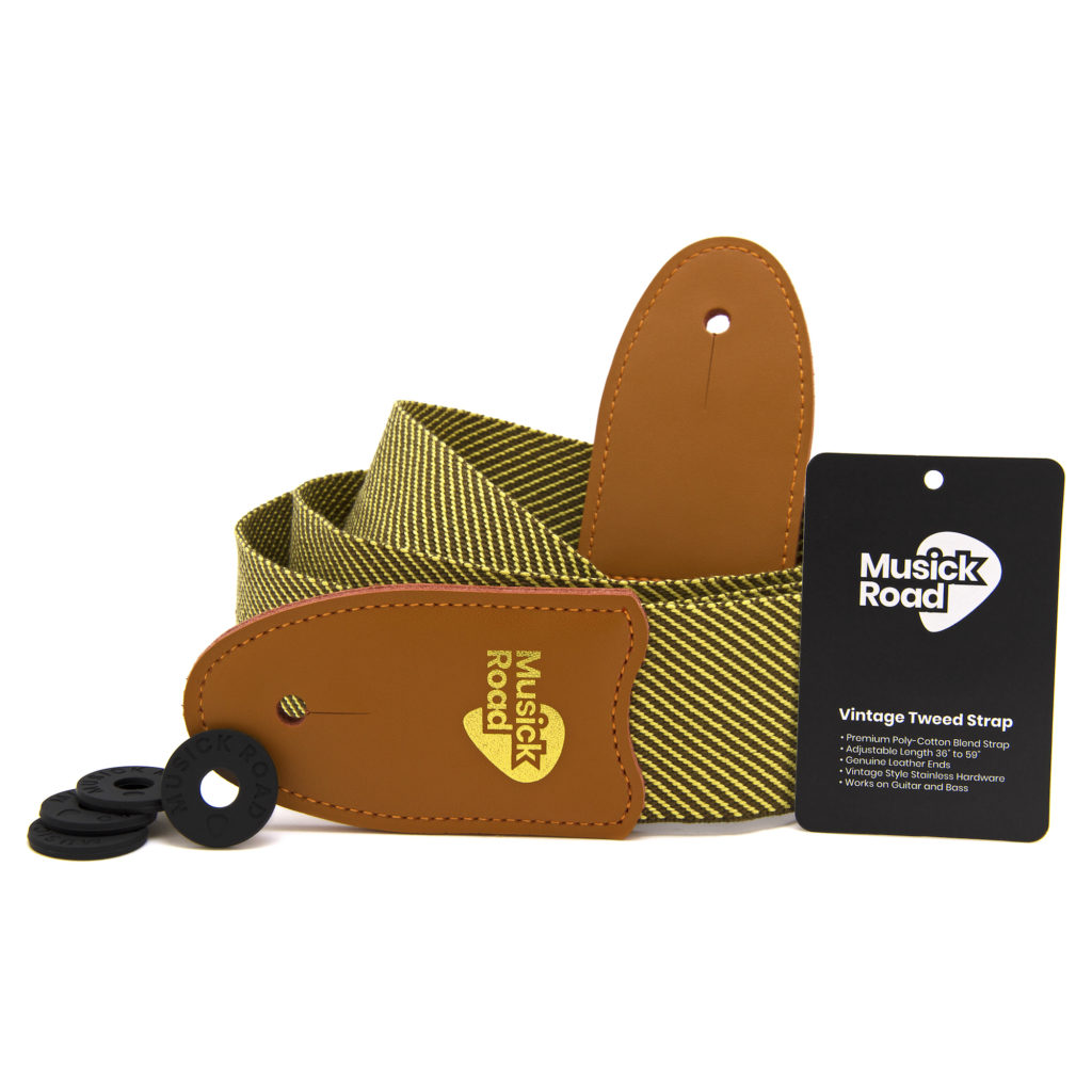 Musick Road Vintage Tweed Strap with Strap Holders