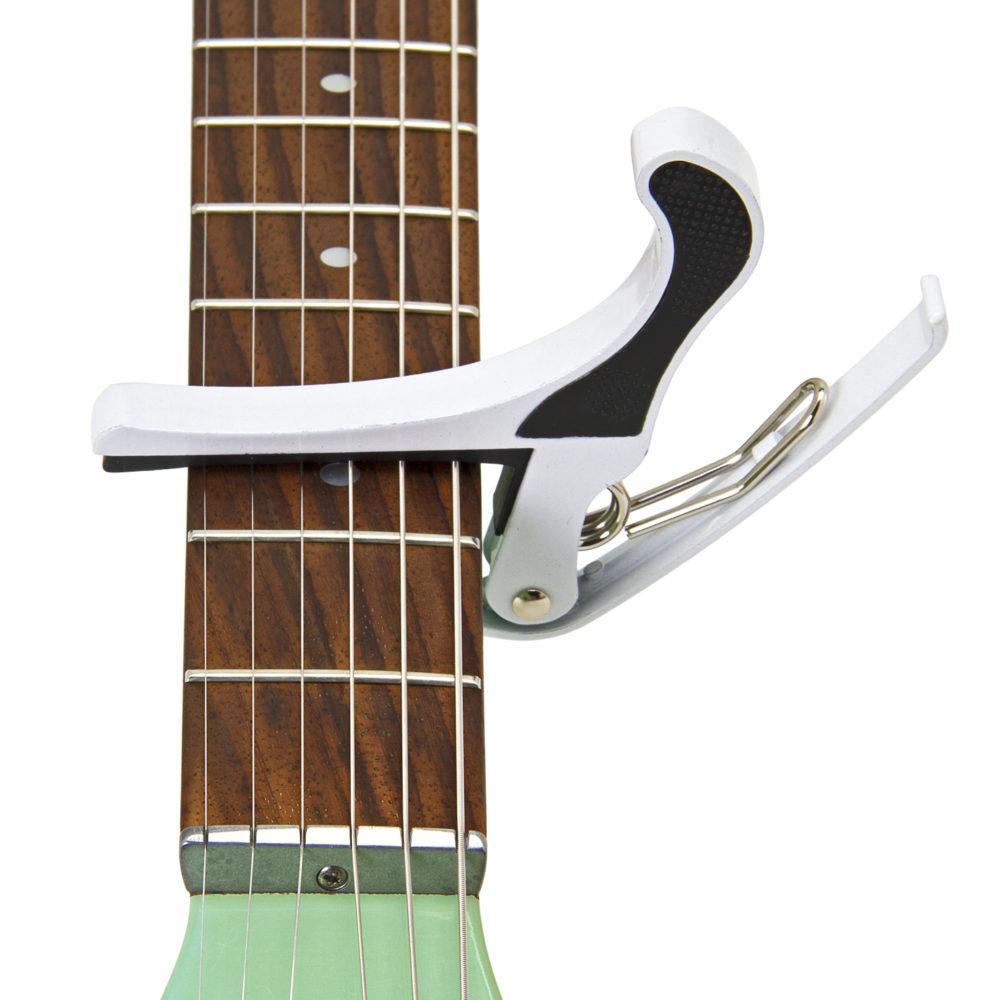 Musick Road Standard Guitar Capo in Glossy White