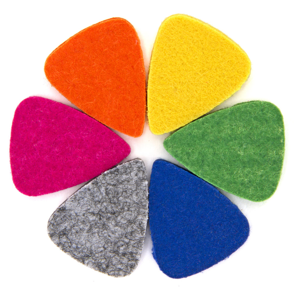 Circle of Musick Road Ukulele Felt Picks 6 pack