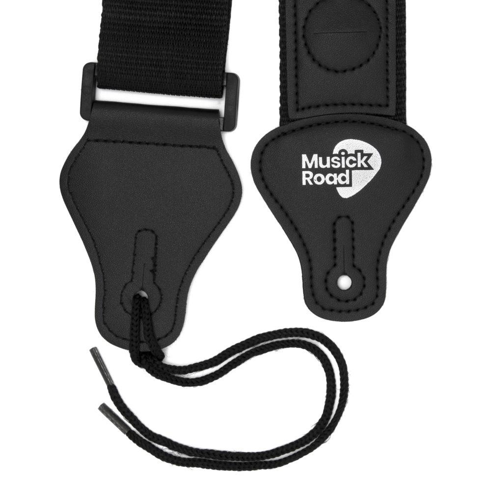 Musick Road Black Poly Guitar Strap Ends