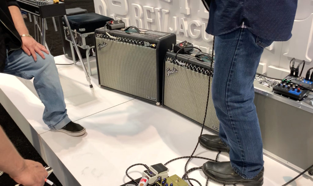 Fender Tone Master Twin Reverb and Reverb Deluxe at the 2019 Summer NAMM show in Nashville, Tennessee