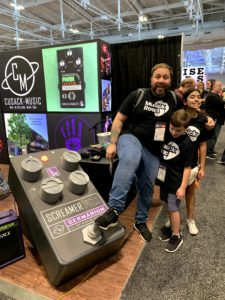Daniel, Nico and Pao at the Cusack Music booth during Summer NAMM